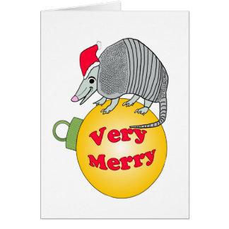 Sankt-Gürteltier-sehr frohe Weihnachten Grußkarte