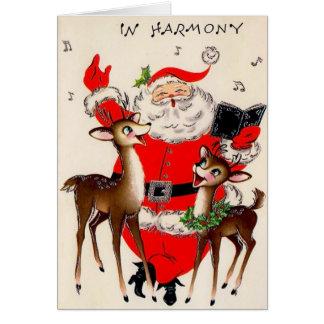 Sankt-Harmonie-Vintage Weihnachtskarte Grußkarte