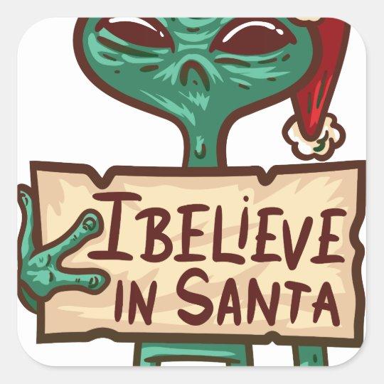 Sankt I glauben - Weihnachtsfeiertag Quadratischer Aufkleber