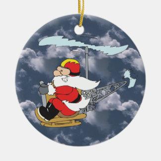 Sankt in einer Hubschrauber-Verzierung Keramik Ornament