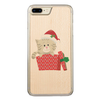 Sankt-Kätzchen Carved iPhone 8 Plus/7 Plus Hülle
