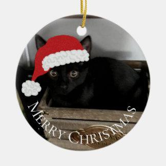 Sankt-Kätzchen-Weihnachtsverzierung Keramik Ornament