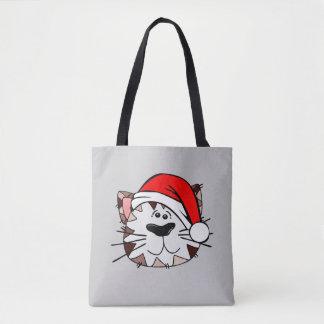 Sankt-Katze ganz vorbei - drucken Sie Tasche