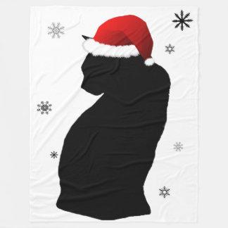 Sankt-Katze mit Schnee-Fleece-Decke Fleecedecke