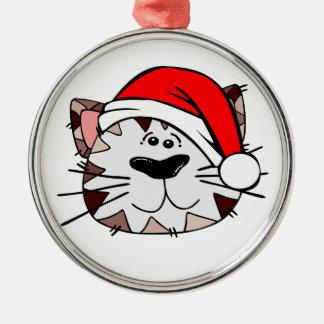 Sankt-Katzen-erstklassige runde Verzierung Silbernes Ornament