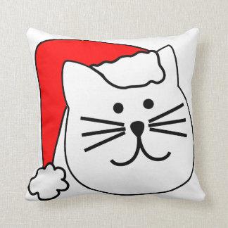Sankt-Katzen-Weihnachtskissen Kissen