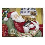 Sankt-Liebe-Katzen-Weihnachtskarte Grußkarte