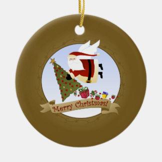 Sankt liefert | Weihnachtsverzierung Keramik Ornament