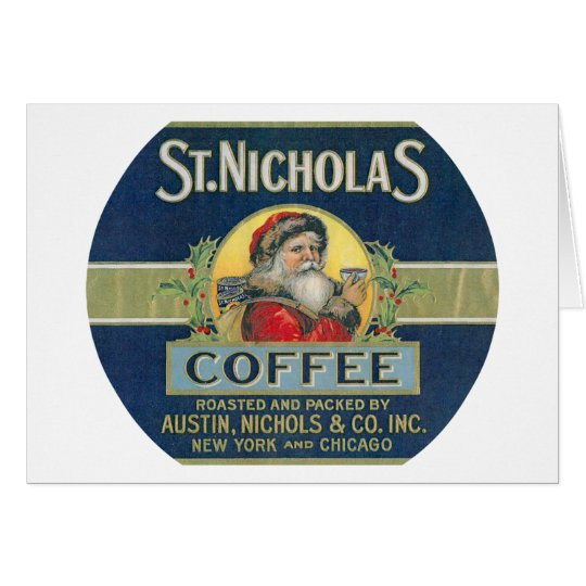Sankt- Nikolauskaffee Grußkarte