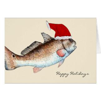 Sankt-Rotbarsch-Weihnachten Grußkarte