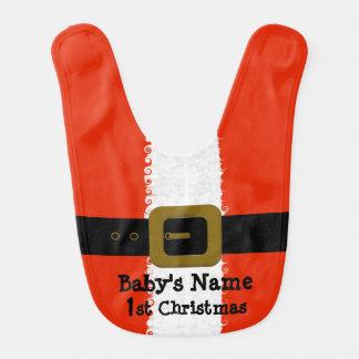 Sankt-Schellfisch des Babys 1. Weihnachts Lätzchen