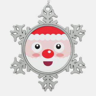 Sankt-Schneeflocke-niedliche Schneeflocken Zinn-Ornament