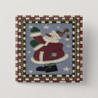 Sankt-Schneemann Quadratischer Button 5,1 Cm