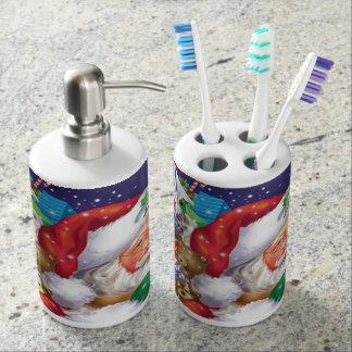 Sankt-Seifen-Zufuhr und Zahnbürste-Halter Badezimmer-Set