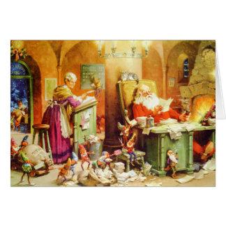 Sankt u. Frau Klaus u. der Elf-Karo seine Liste Karte
