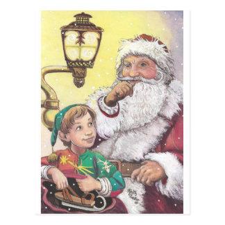 Sankt und Elf Postkarte
