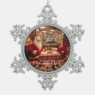 Sankt und Frau Frankenmuth, MI-Schneeflocke 1 Schneeflocken Zinn-Ornament