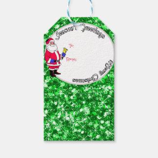 Sankt und funkelnd Weihnachtsflitter Geschenkanhänger