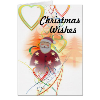 Sankt und Herzen, Weihnachtswünsche Karte