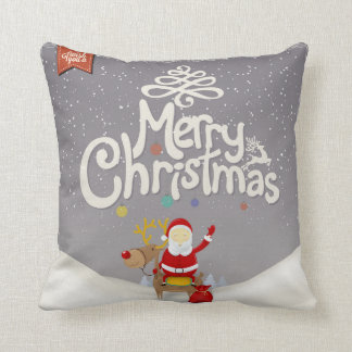 Sankt- und Ren-Weihnachtskissen Kissen