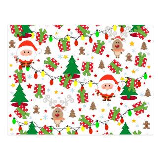 Sankt- und Rudolph-Muster Postkarte