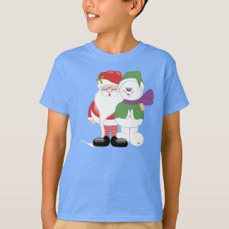 Sankt und Schneemann T-Shirt