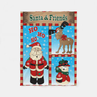 Sankt und seine Freunde - Weihnachten Fleecedecke