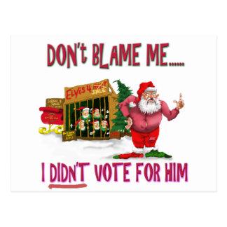 Sankt w/Elves für Miete/politischen Witz Postkarte