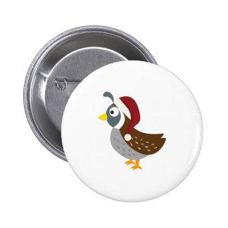 Sankt-Wachteln Runder Button 5,1 Cm