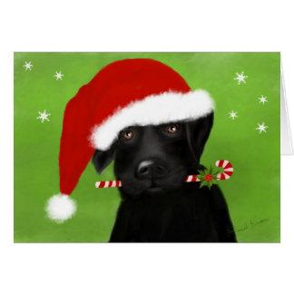 Sankt wenig Helfer-Weihnachten Labrador Karte