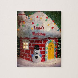 Sankt Werkstatt-Foto-Puzzlespiel mit Geschenkboxen
