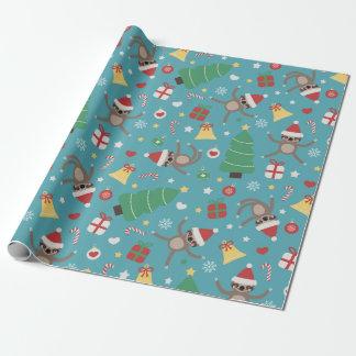 SanktSloths - niedliches Weihnachtsmuster Geschenkpapier
