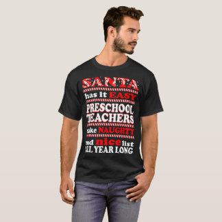 Sanktvorschullehrer stellen freches Listen-T-Shirt T-Shirt