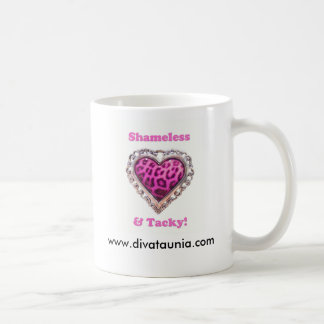 Sans scrupule et de mauvais goût, www.divataunia.c mug blanc