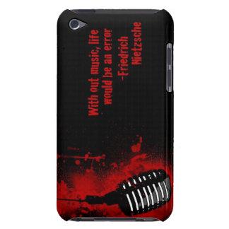 sans vie de musique une caisse d'iPod de citation  Étui Barely There iPod