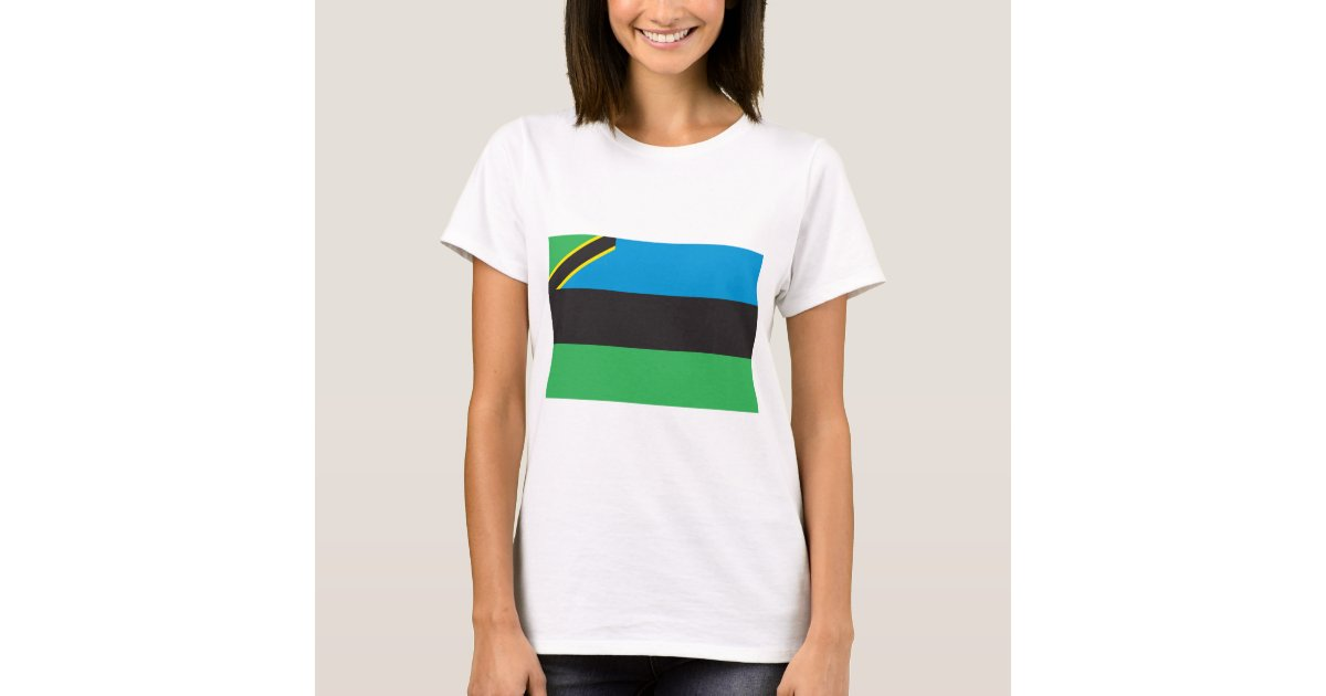 Sansibar-Flagge T-Shirt | Zazzle.ch