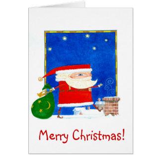 Sant Klaus Weihnachtskarte Karte