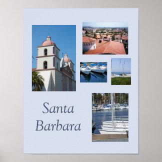 Santa- BarbaraFoto-Galerie-Schablonen-Plakat