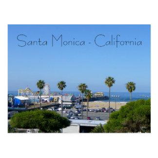 Santa Monica Ansicht-Postkarte! Postkarte
