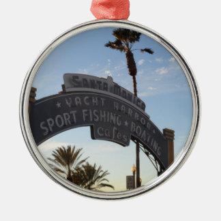 Santa Monica, CA Silbernes Ornament