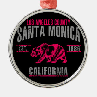 Santa Monica Silbernes Ornament