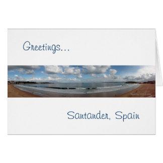 Santander, Spanien Karte