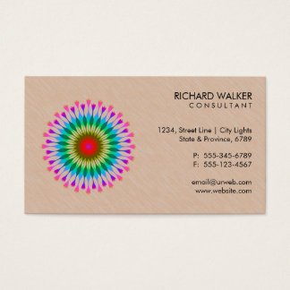 Santé en bois florale de santé de logo élégant de cartes de visite