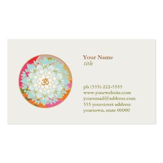 Santé et santé de symbole d OM de logo de fleur de Cartes De Visite Professionnelles