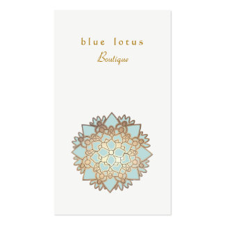 Santé et santé holistiques de logo de Lotus bleu Cartes De Visite Personnelles