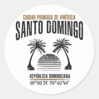 Santo Domingo Runder Aufkleber