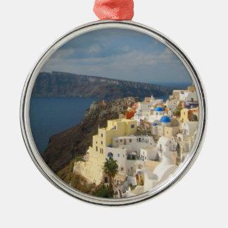 Santorini am Nachmittag Sun Silbernes Ornament