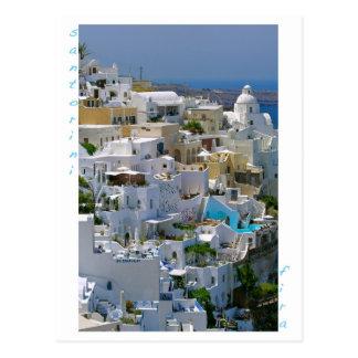 Santorini Fira Postkarte Postkarte