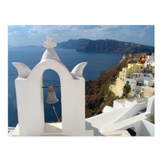 Santorini Glockenturm am Nachmittag Sun Postkarte