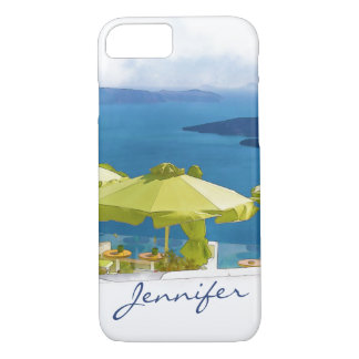 Santorini Griechenland Malerei iPhone 7 Hülle